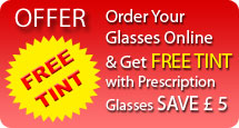 FREE TINT when you buy prescription glasses