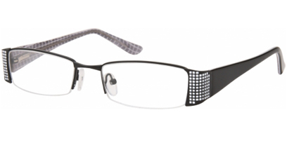Semi Rimless Glasses 438 --> Black - White