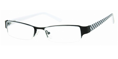 Semi Rimless Glasses 446 --> Black - White