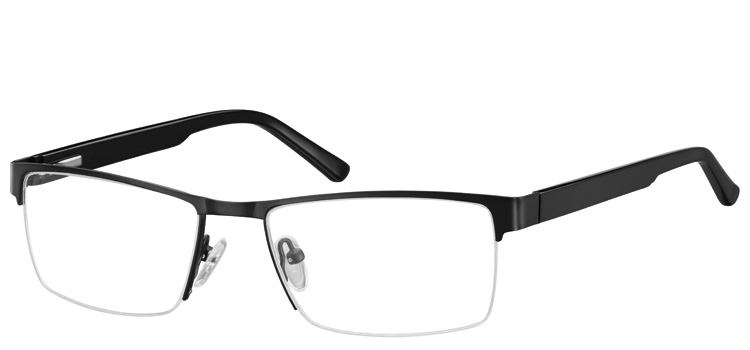 Semi Rimless Glasses 622 --> Black