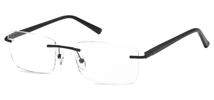 Rimless Glasses 647 --> Black