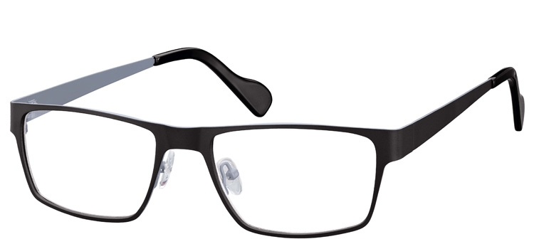 Cheap Glasses 634 --> Black and Grey