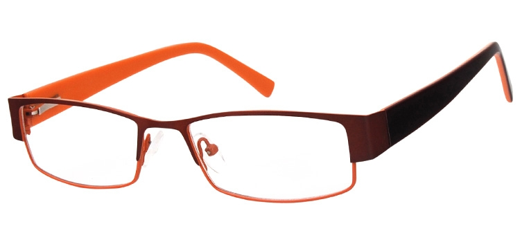 Cheap Glasses 662 --> Brown/Orange Slice